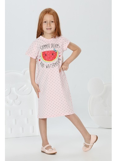Lupiakids Karpuzlu Pembe Kız Elbise Renkli